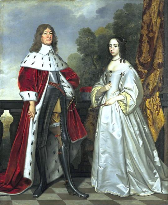 Kurfürst Friedrich Wilhelm mit seiner ersten Ehefrau Luise Henriette von Nassau-Oranien